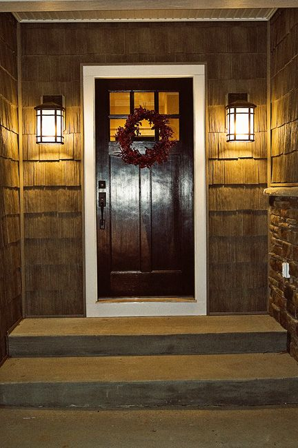 Like The Dark Front Door Shingles On House Exterior Lights Didn