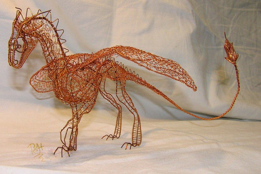 Dragon of wire 2 by Holymain on DeviantArt