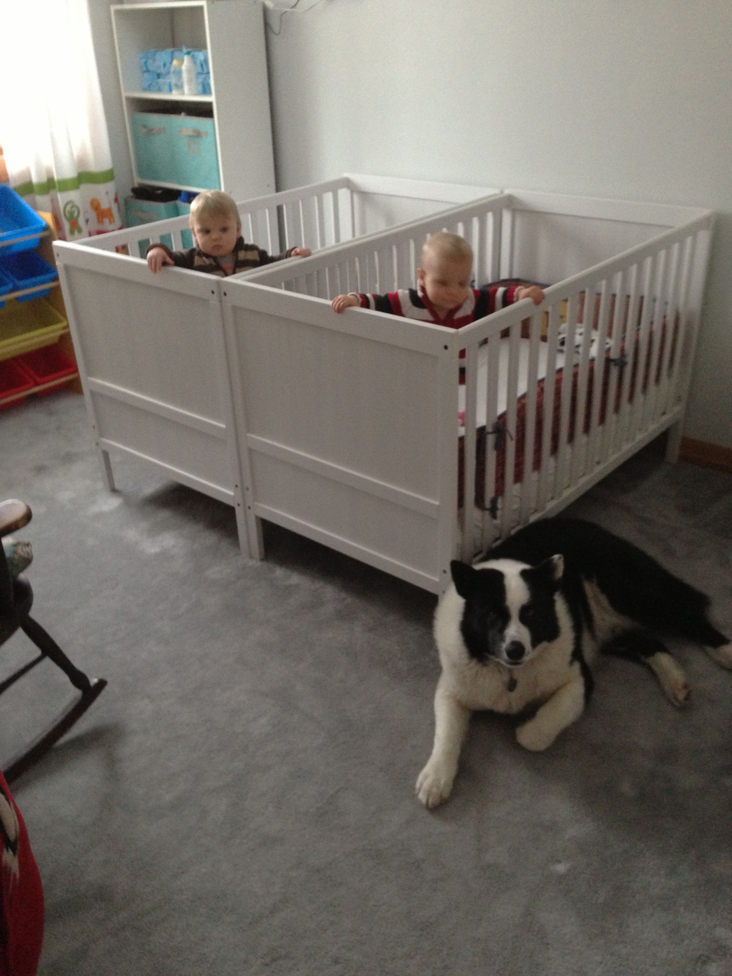 cribs from ikea 2 of these sundvik crib white each babies priceless