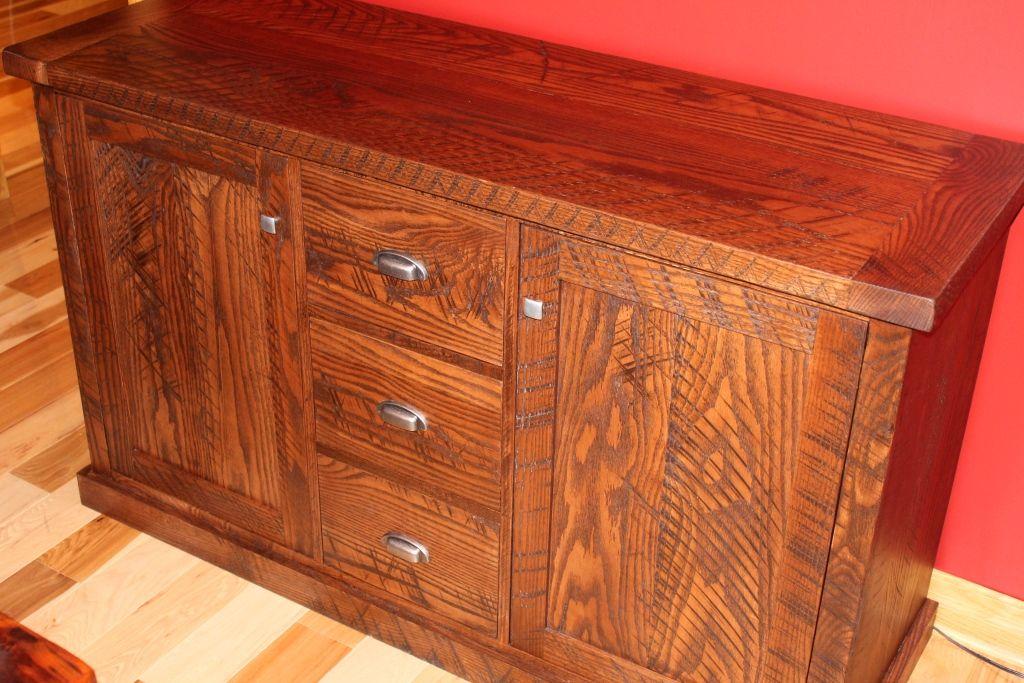 Barbini rustic oak cabinet made from customer lumber - non ...