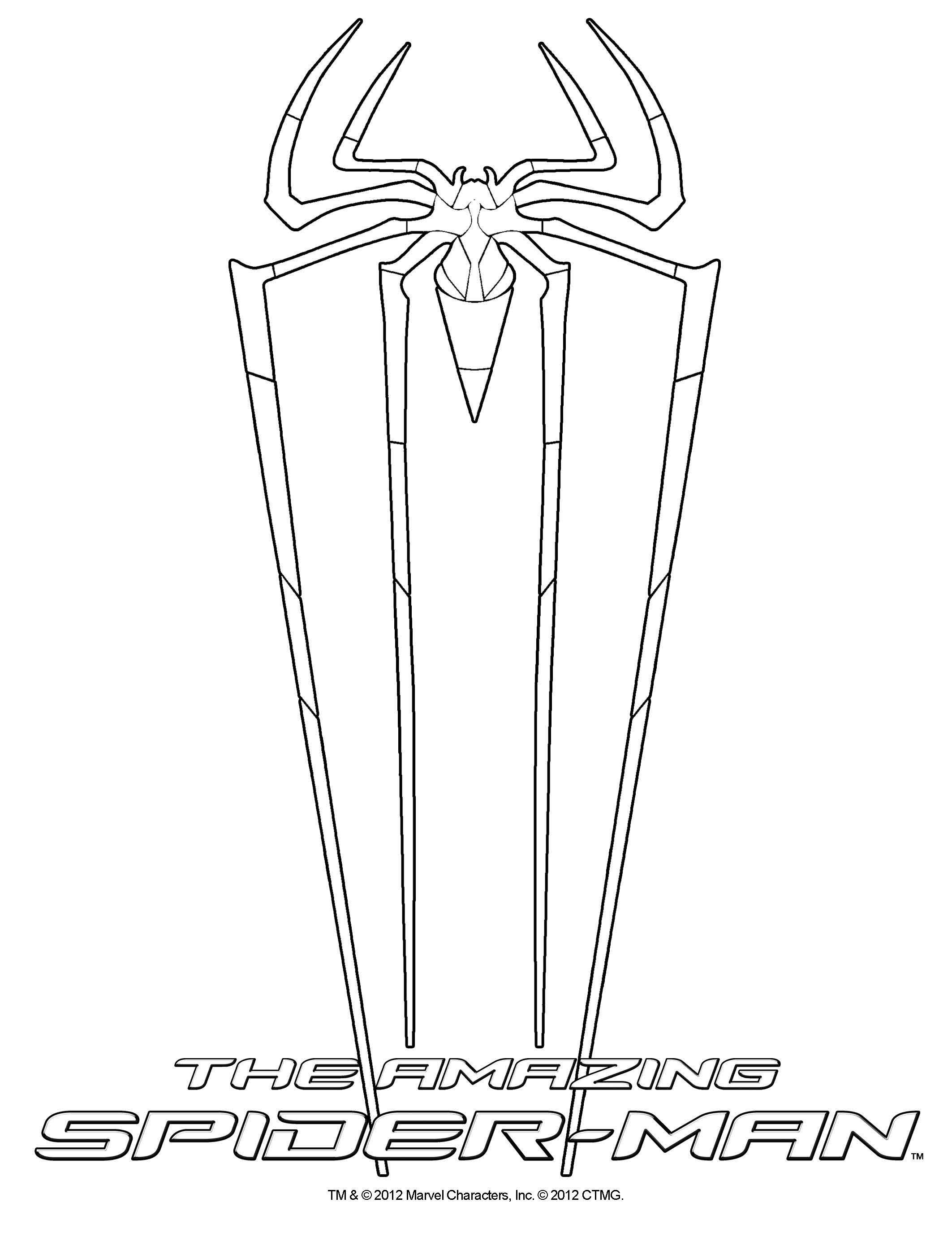Coloring Sheet The Amazing Spider Man In Theatres July 3 2012 Amazing Spider Spiderman Color