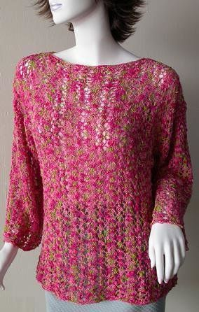 4ce31b214f08a Free Knitting Pattern - Women s Pullovers  Lace Bell Sleeve Pullover ...