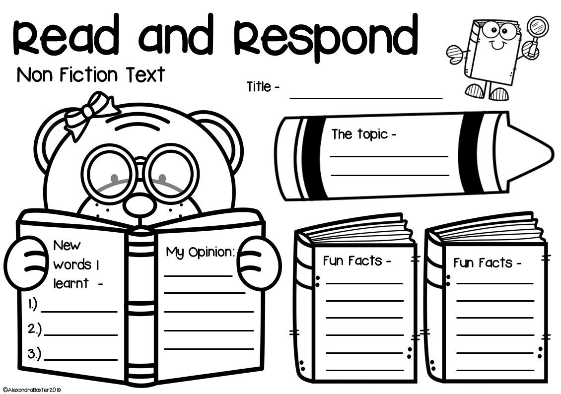 Non Fiction Book Report Worksheets Amp Graphic Organizers
