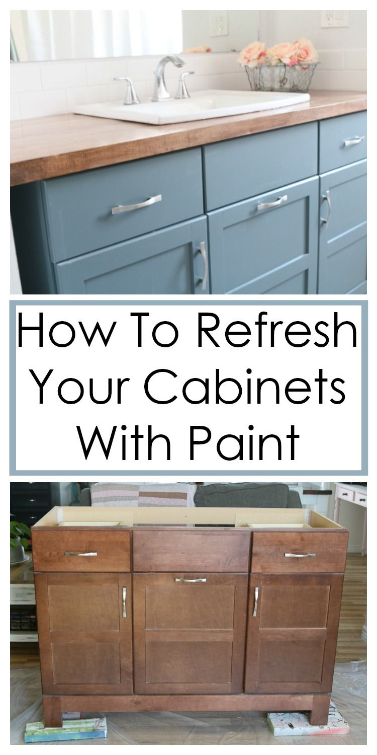 How To Paint Cabinets Without Sanding A Fresh Squeezed Life Painting Cabinets Redo Kitchen Cabinets Kitchen Redo