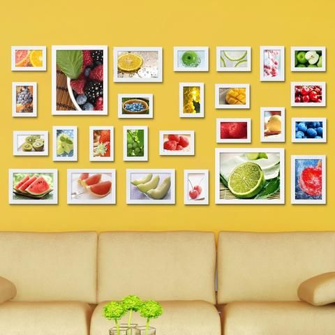 26 Pcs Creative Wall Mount Wood picture Photo Frame Wall Collage ...
