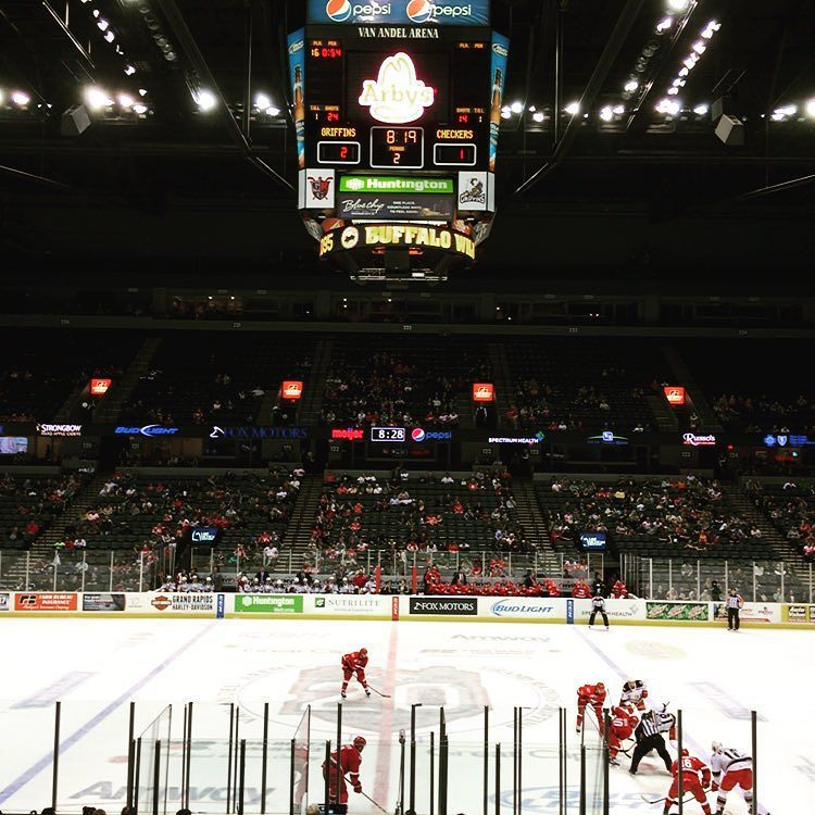 Box seats tonight at the Grand Rapids Griffins hockey game Courtesy