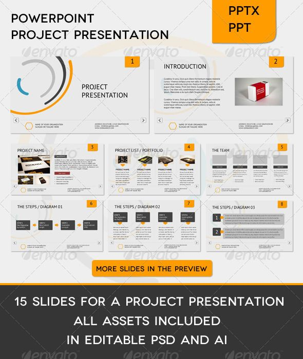 Corporate Project Presentation  Powerpoint Presentation Templates