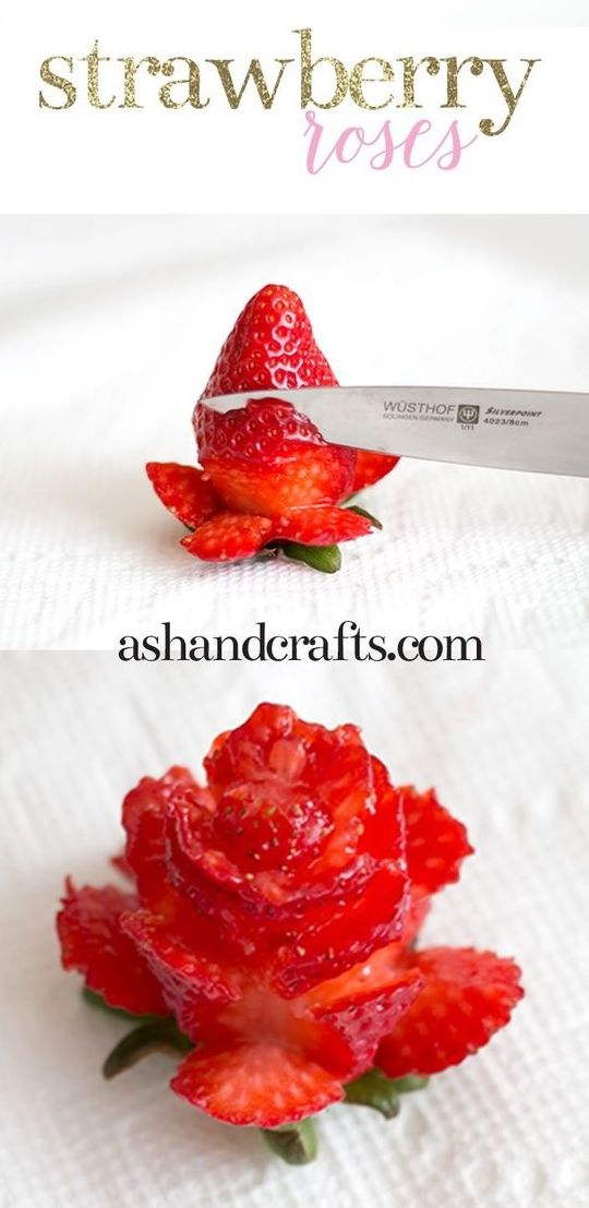 Pin By Shonda Yancey On Valentines Strawberry Roses Cut