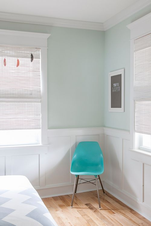 Walls Are Martha Stewart Spring Melt Wainscoating And