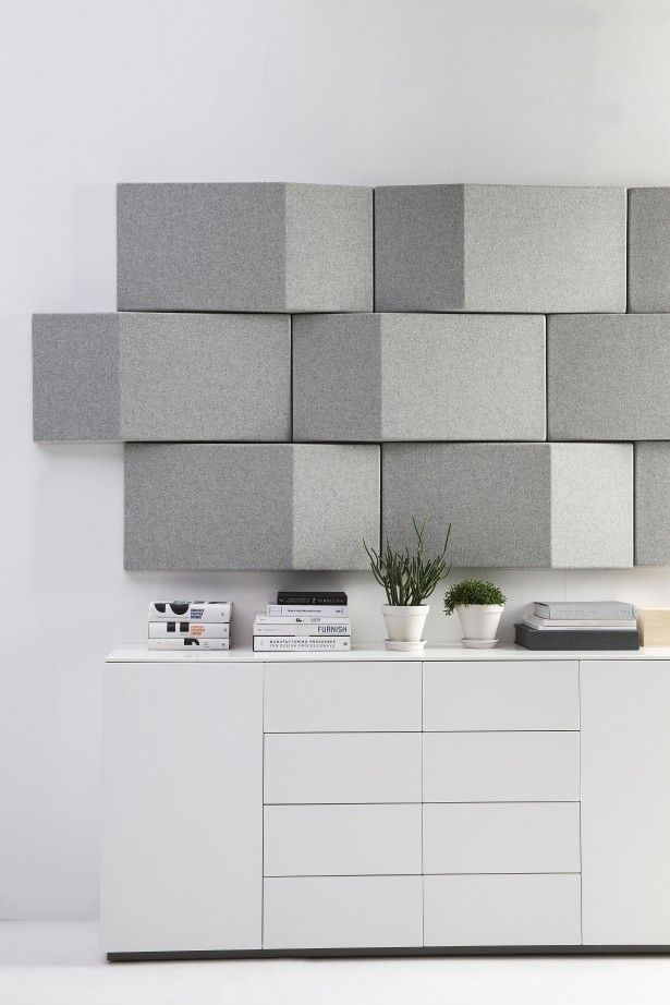 Abstracta triline wall sound absorption angled - Soundproofing interior house walls ...
