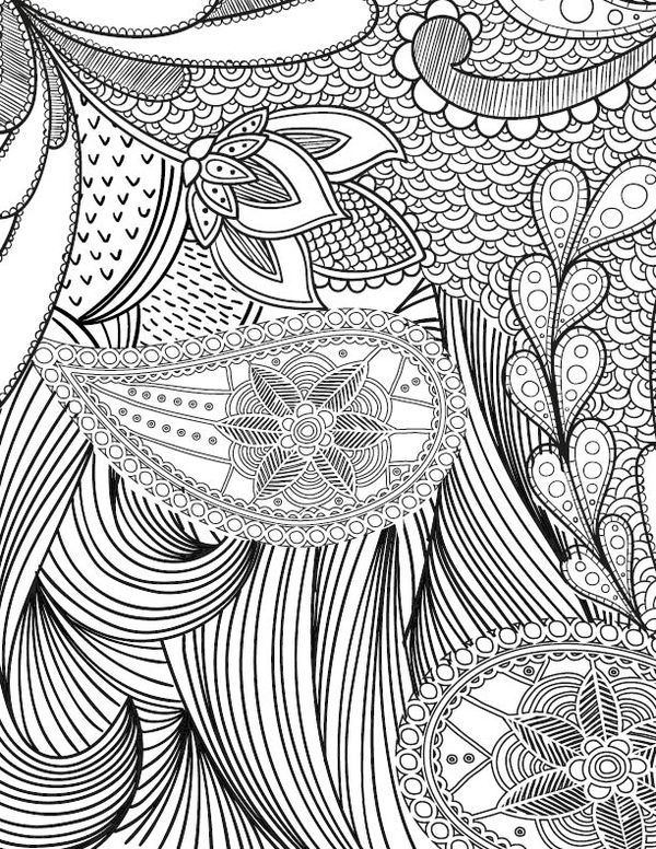Free Adult Coloring Page for those who love crafts and pattern designs! I have several adult coloring books and I love every single one of them! It's such a fun and relaxing activity.