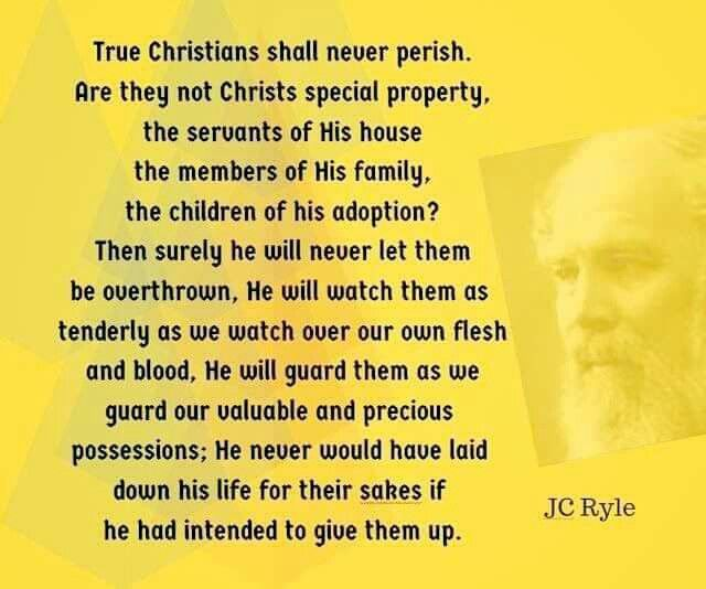 Christian Quotes JC Ryle Quotes Eternal Security Magnificent Security Quotes