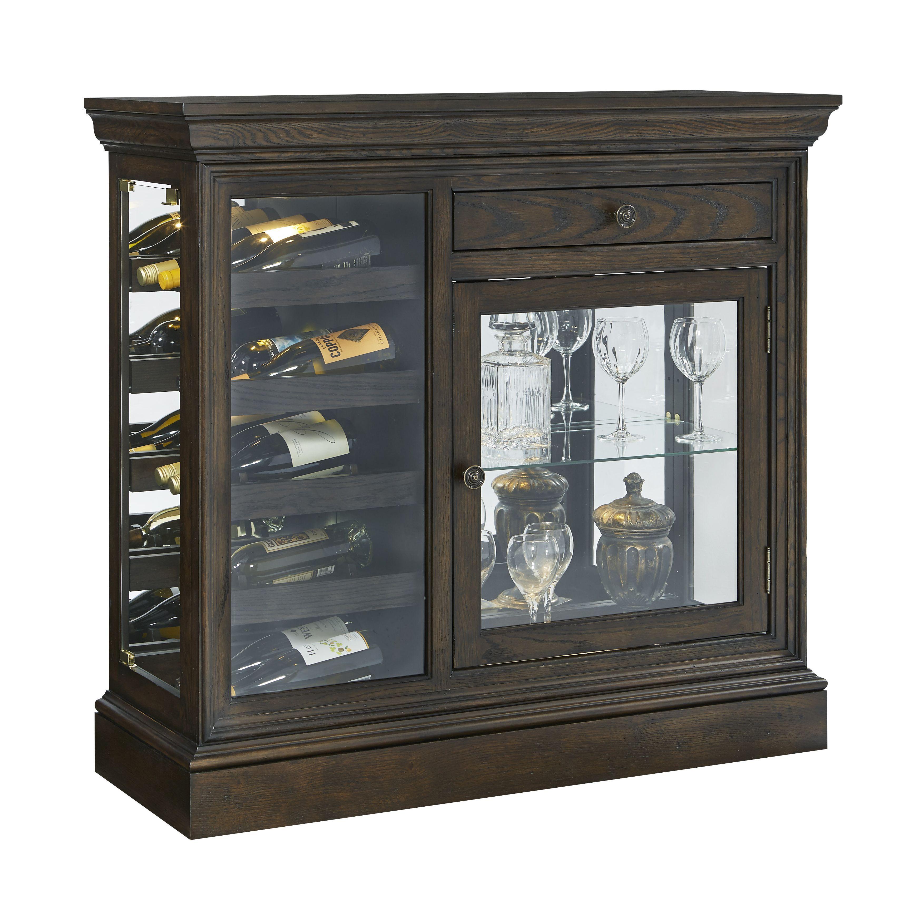 Brown Wine Storage Curio Console Curio Cabinet