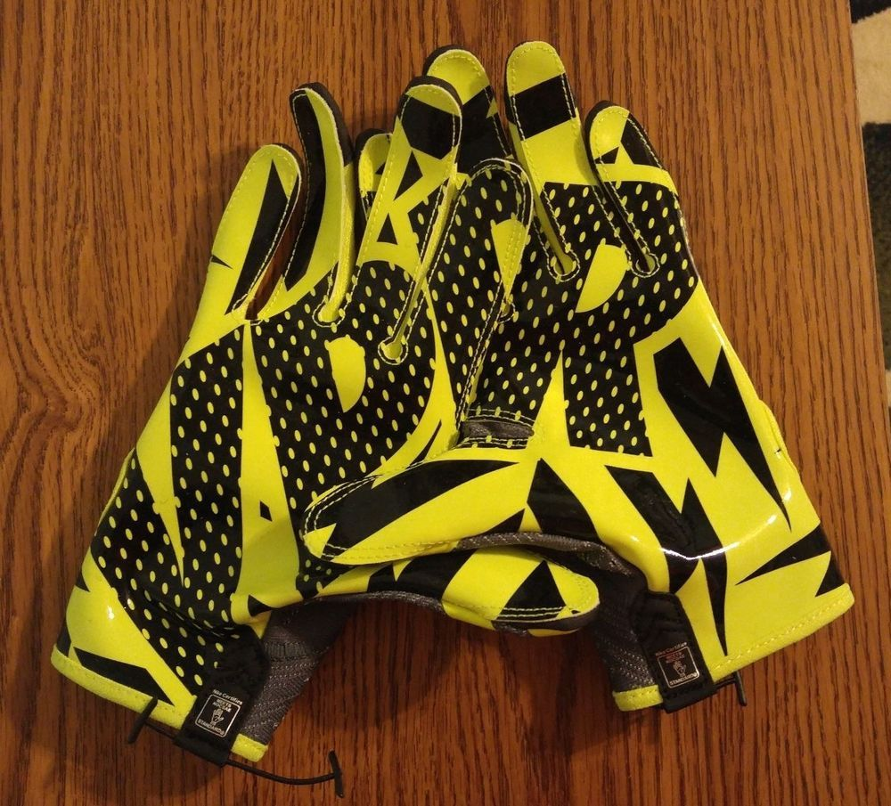 NEW Nike Vapor Knit Football Receiver Skill Gloves ADULT M L Volt GF0386  071 VPR #Nike