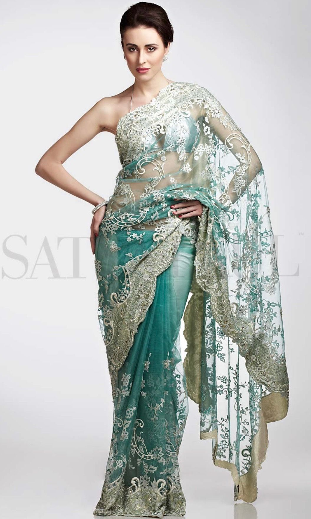 b78b84a3a5 Like it Satya Paul | net sarees... | Satya paul, Indian bridal ...