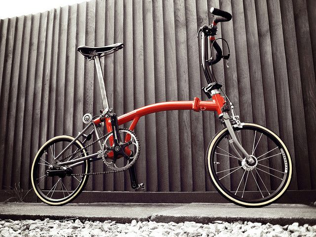 Brompton / Merc with new skinny tyres | Flickr - Photo Sharing!