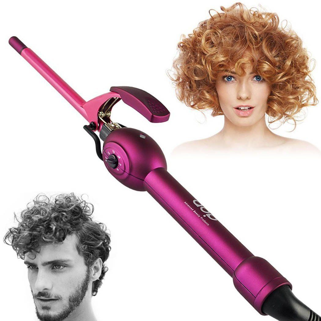Inkint Small Size Ceramic Curling Irons Hot Hair Curler With 6 Travel Speed Adjustable Temperature
