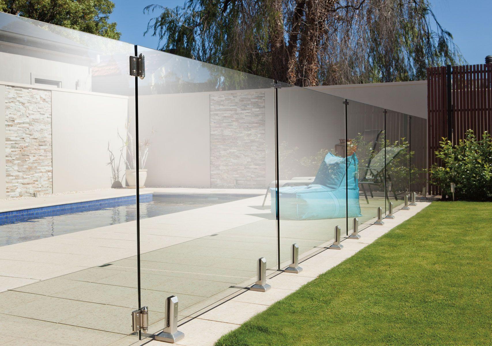 Frameless Glass Fencing Extérieur Moderne Clôture En Verre Balustrade En Verre