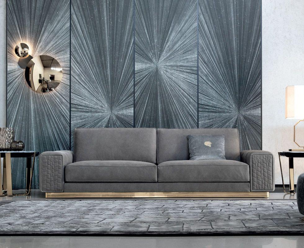 Giorgio Charisma Fabric Sofa Design Luxury Sofa Blue Living Room Decor