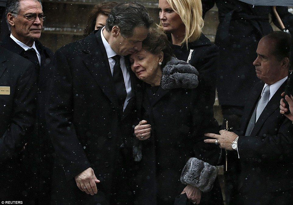 Ex Gov Cuomo S Funeral Begins With Dignitaries On Hand Mario Cuomo Eulogy Governor