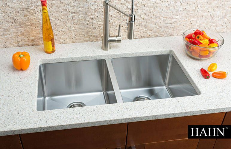 Hahn Chef Series Handmade Extra Large Equal Double Bowl Sink Double Bowl Undermount Kitchen Sink Double Bowl Kitchen Sink Sink