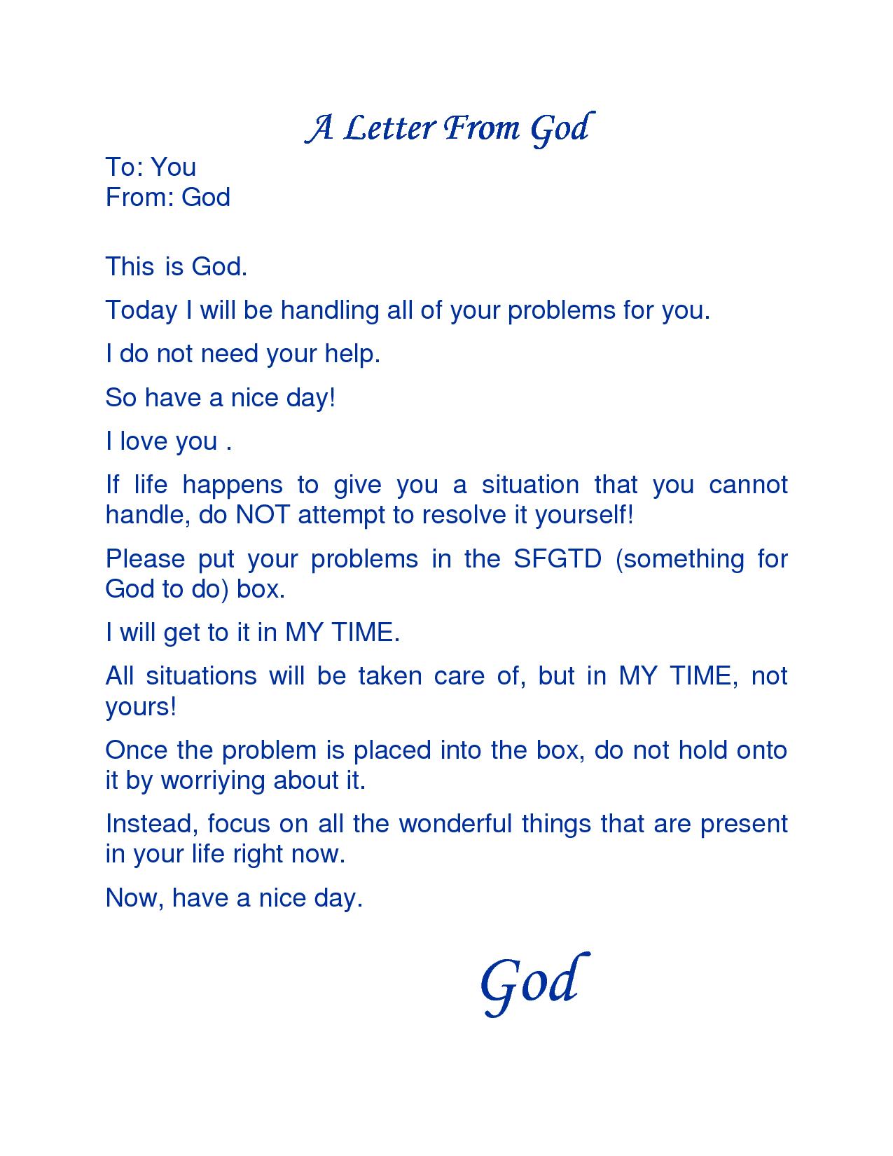 love letter from God | Letter From God A Letter From God A