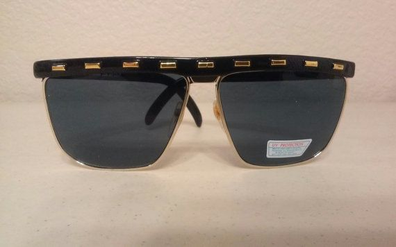 True 1980 Studded Flat tops in Black Tort Dead stock by Dolly1712