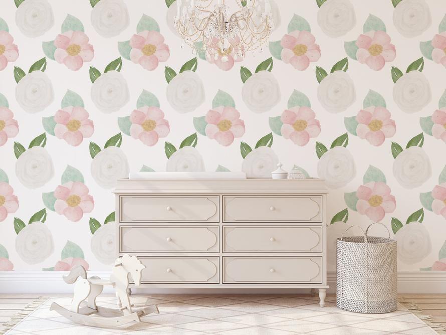 Floral Wallpaper Peel And Stick Wallpaper Nursery Ideas Cute Floral Nursery Nursery Accent Wall Nursery Accent Wall Nursery Wallpaper Temporary Wallpaper