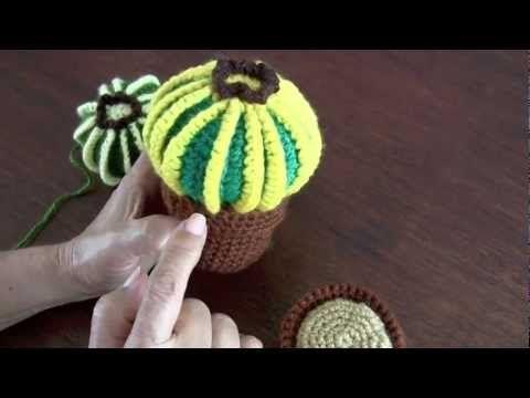 Crochet Cactus Series – Round Barrel Cactus | Cactus de ganchillo ... | 360x480