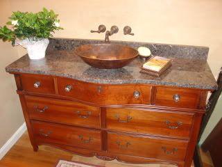Images Of Dresser Into A Bathroomvanity RE Has Anyone Converted - Dresser turned bathroom vanity for bathroom decor ideas
