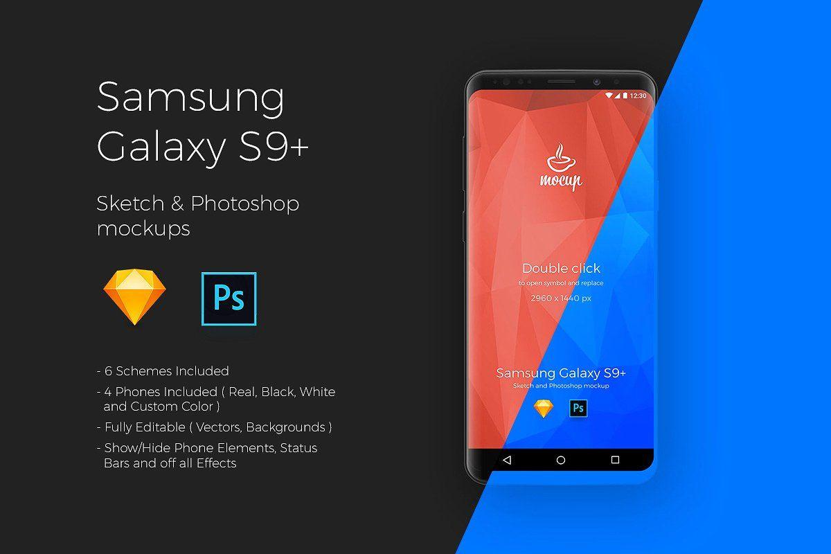Samsung Galaxy S9+ App Mockups Samsung galaxy s9