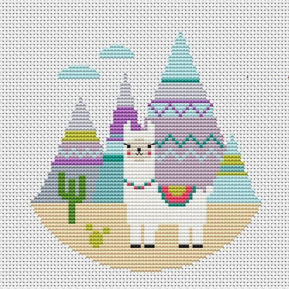 Photo of Llama Cross Stitch Modern Pattern Funny Cross Stitch Cute Xstitch Baby Chart Animals C …