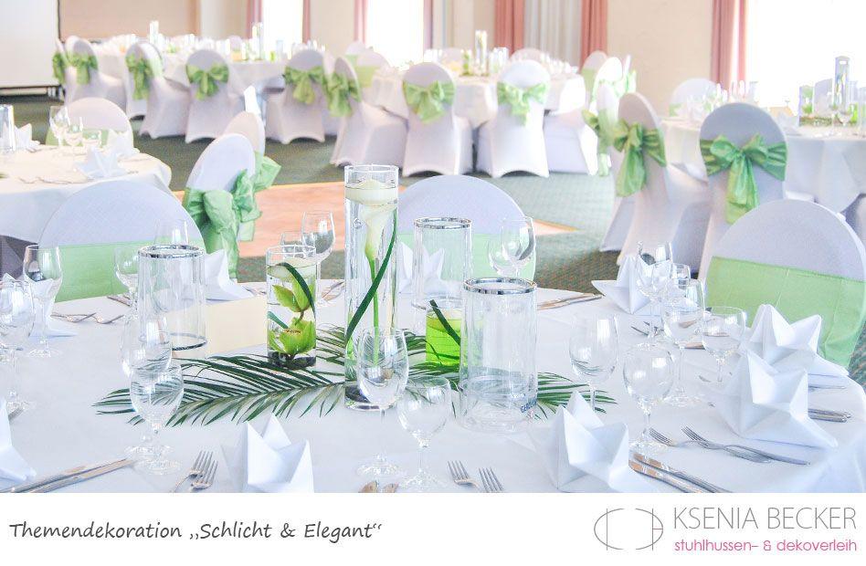 Schlicht Und Elegant Hochzeitsdekoration Tischdekoration