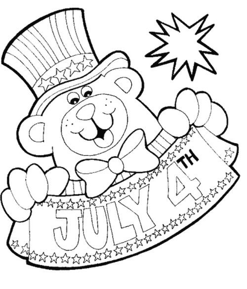 Fourth Of July With The Person Wearing The Hat Coloring Pages - new 4th of july coloring pages preschool