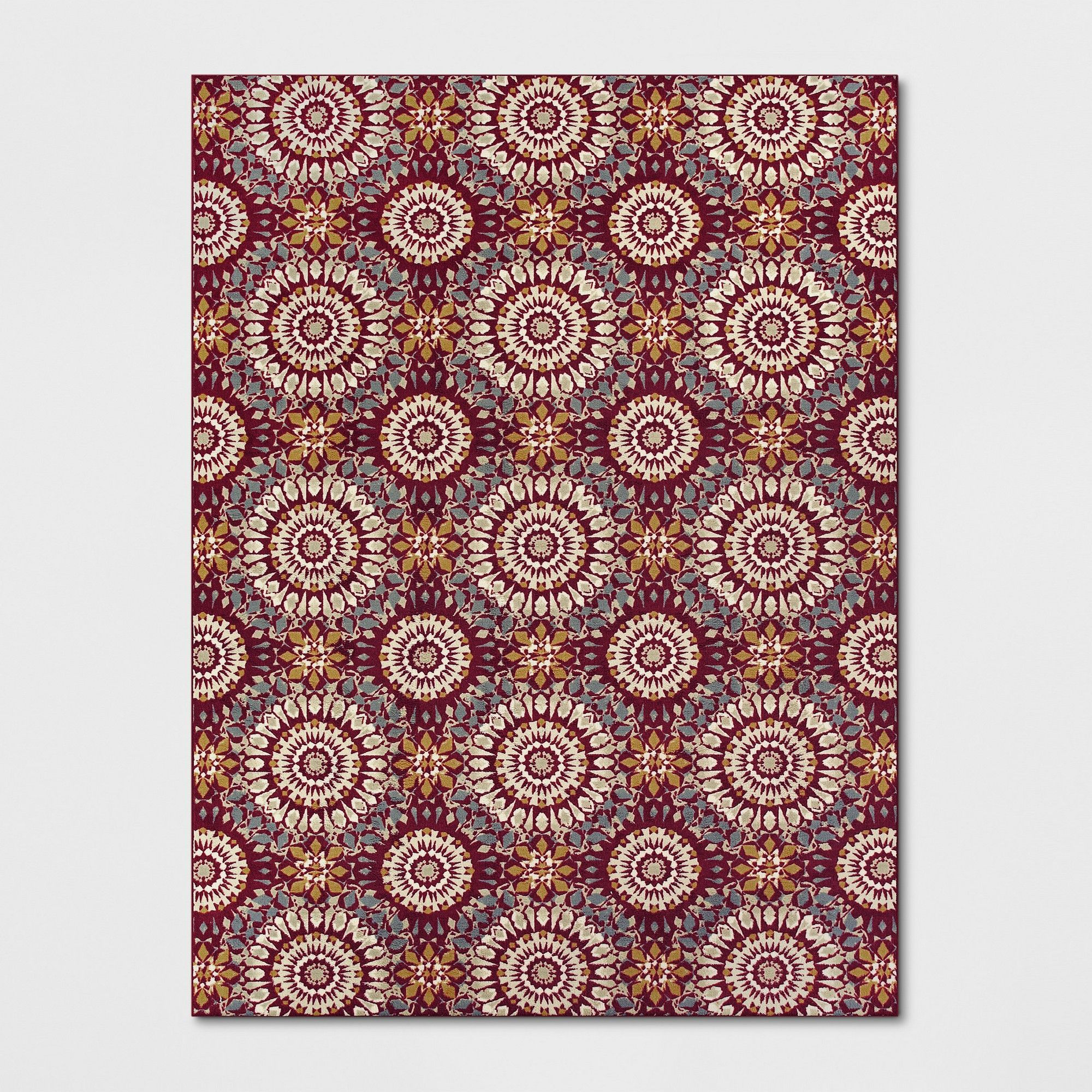 9 X12 Medallion Tufted Area Rugs Red Threshold In 2019
