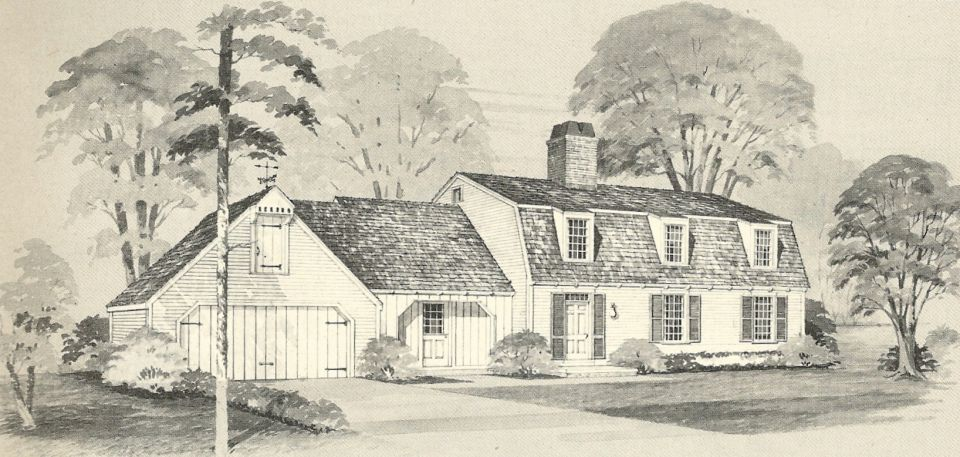 Vintage house plans vintage homes floor plans 1970s for Antique colonial house plans