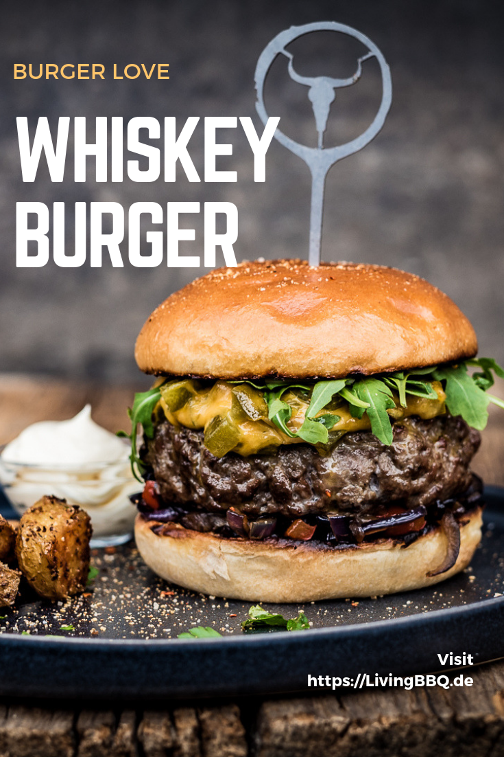 Whiskey Cheeseburger #hamburgermeatrecipes