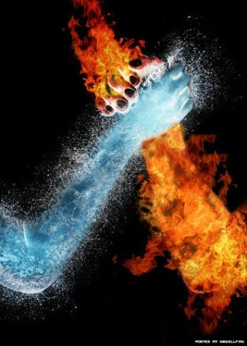 Fire Ice Handshake Gif Fire Vs Water Photo Manipulation Fire Art