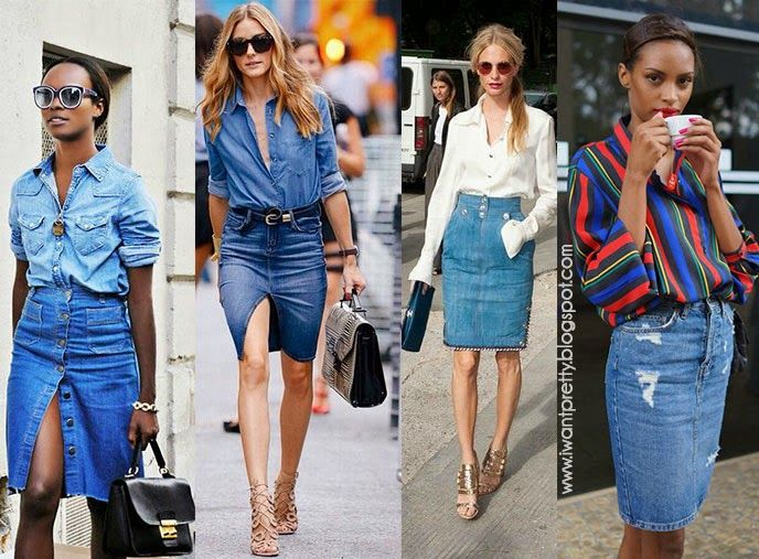 La respuesta sería: ¡con mucho estilo!   Gracias a que las >faldas lápiz<  llevan un par de años muy de moda (antes eran más bien clásicas ...
