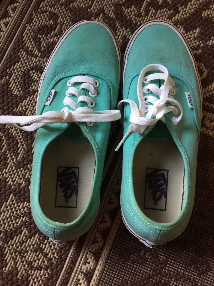 Vans Authentic Sneakers Womens Size 9 Green Mint Fashion Clothing Shoes Accessories Womensshoes Athleticshoes Ebay Link Sneakers T Bar Shoes Athletic Shoes