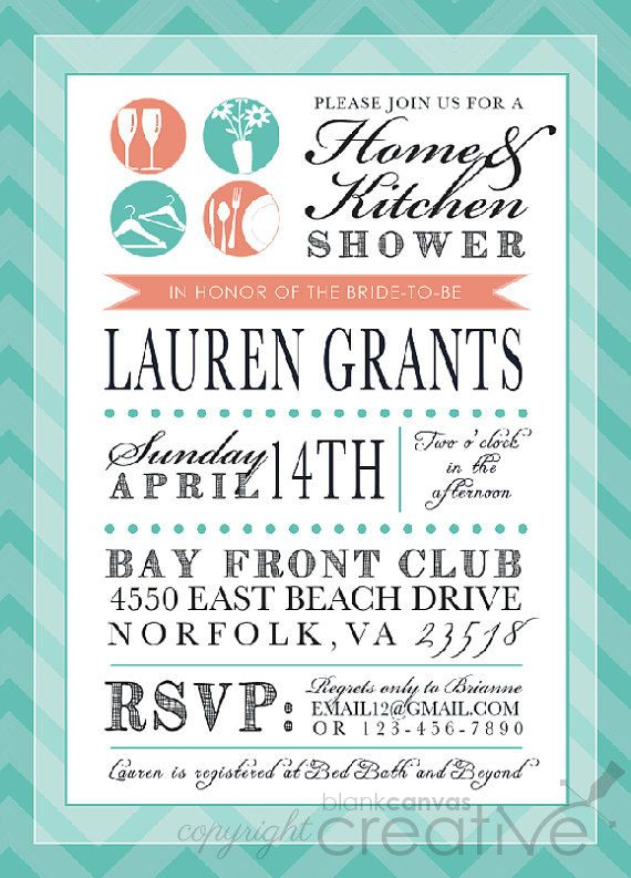 around the housestock the kitchen bridal shower invitation stock the pantry shower coral