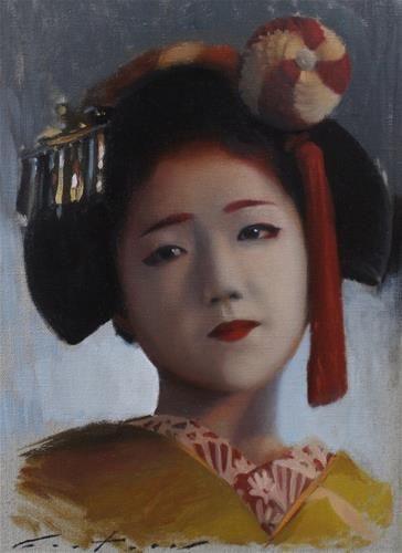daily paintworks katsuna original fine art for sale phil couture portrait. Black Bedroom Furniture Sets. Home Design Ideas