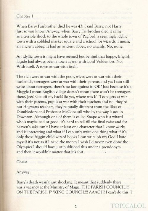 The First Page Of Jkr S New Book Must Buy Jk Rowling New Book New Books Books