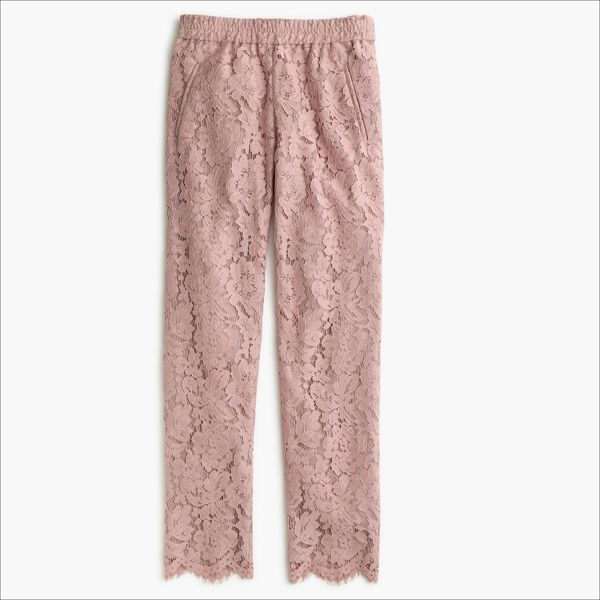 J.Crew Gift Guide: women's pull-on pant in dahlia lace.