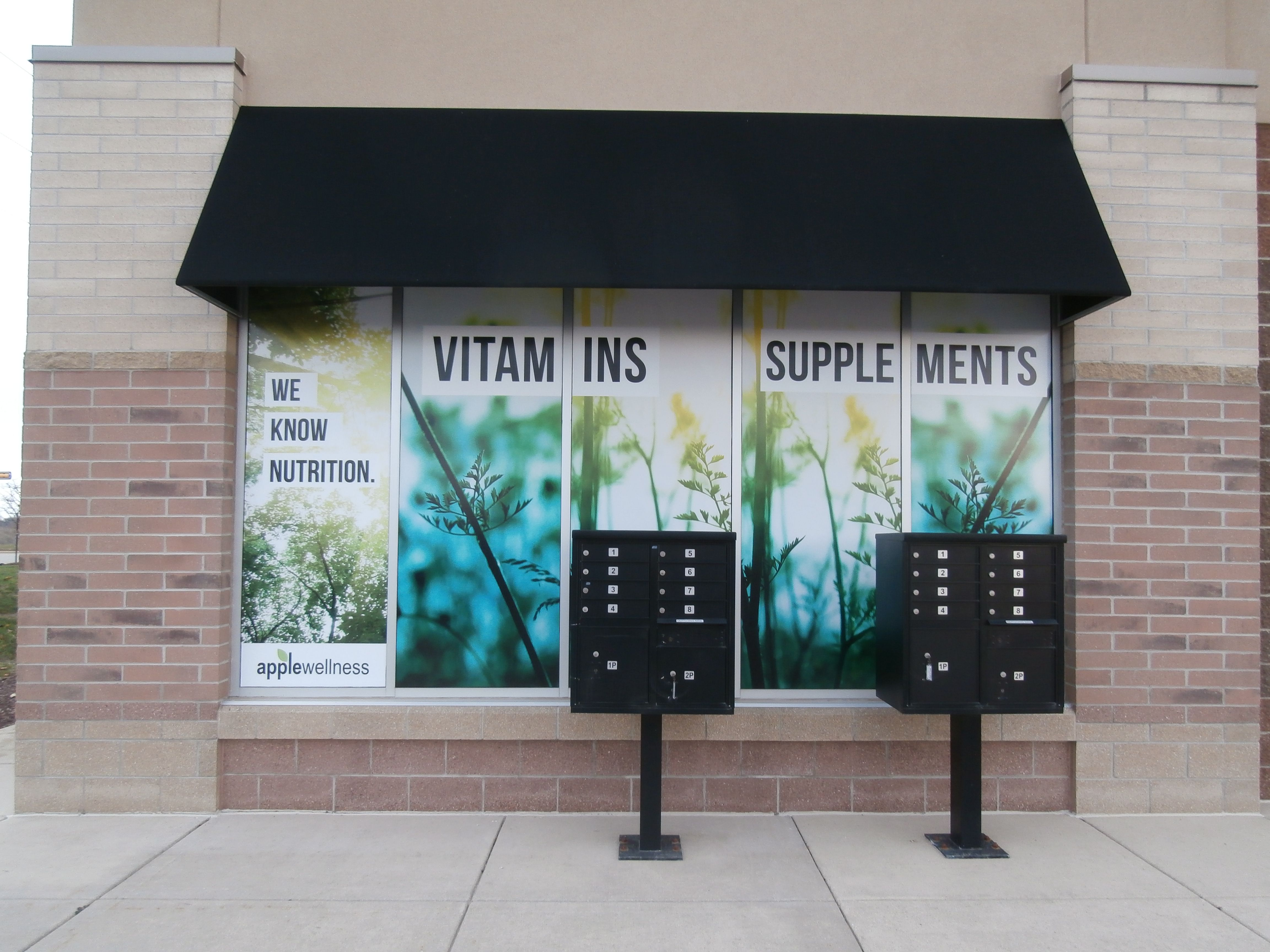 Apple Wellness Window Wraps Done By Monarch Media Designs In