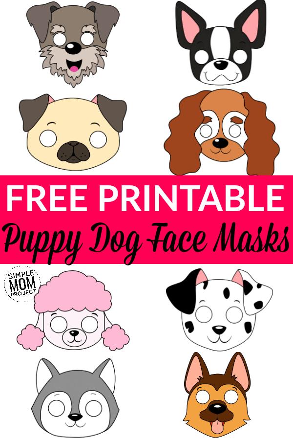Dog Face Mask Templates Dog Costumes For Kids Dog Mask Dog Face
