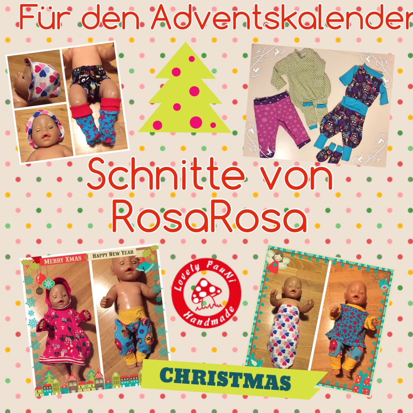 Puppenkleidung Schnitt #Rosarosa #LovelyPauNiBlog #LovelyPauNi