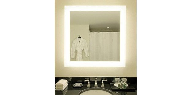 Ablaze Backlit Mirror With Frosted Edge No Border Cool