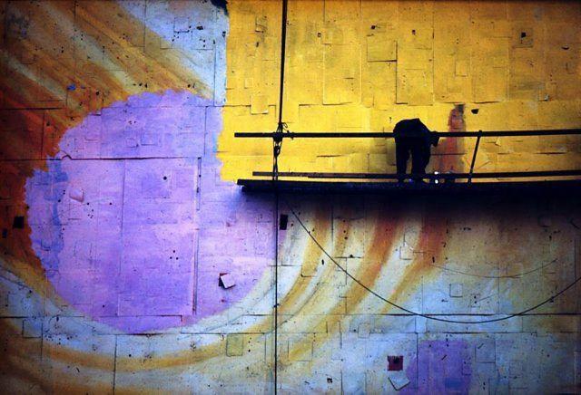 Billboard painter - Ernst Haas