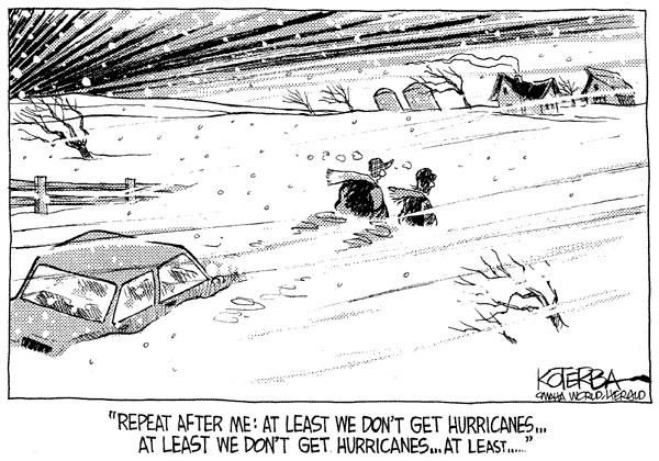 Two Men and a Little Farm: BLIZZARDS OR HURRICANES, FRIDAY FUNNY